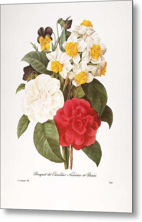 1833 Metal Print featuring the photograph Redoute: Bouquet, 1833 by Granger