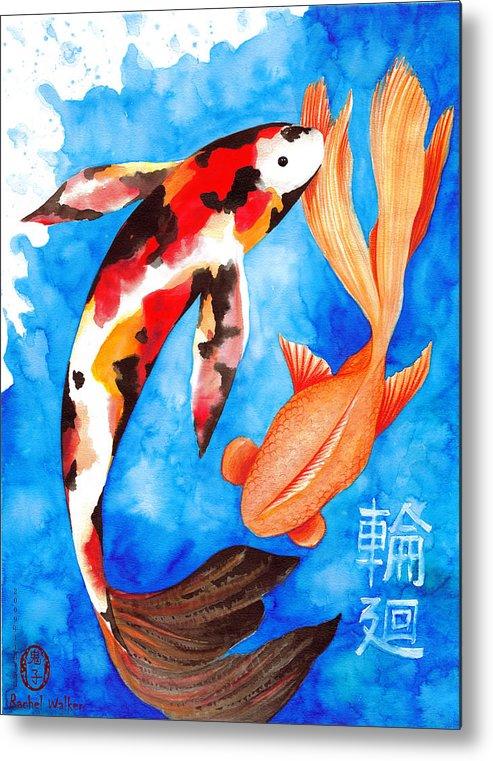 Water Metal Print featuring the painting Reincarnation by Rachel Walker