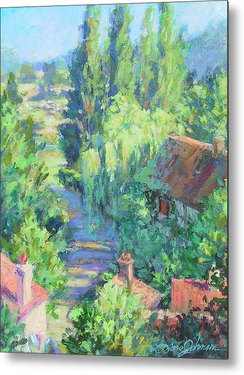 France Metal Print featuring the painting Road To Giverny by L Diane Johnson