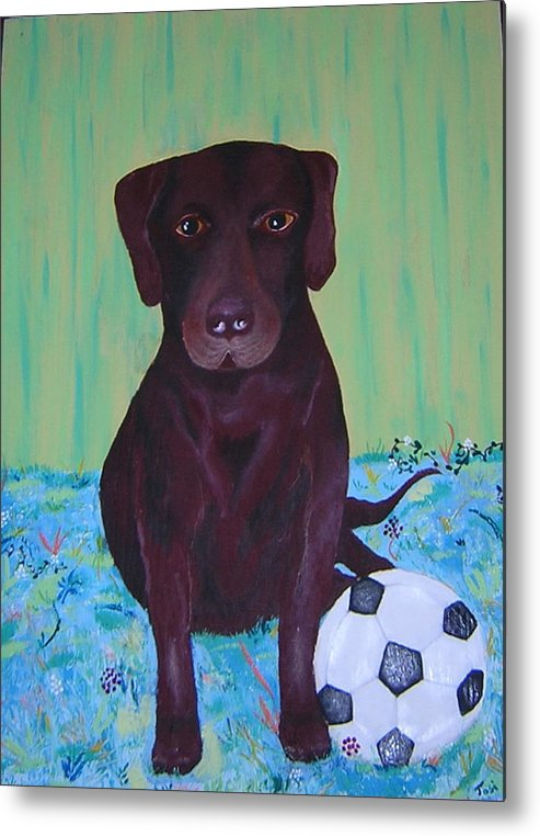 Dog Metal Print featuring the painting Rocky by Valerie Josi