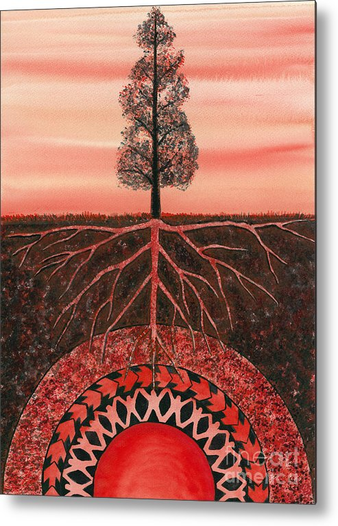 Chakra Metal Print featuring the painting Root Chakra by Catherine G McElroy