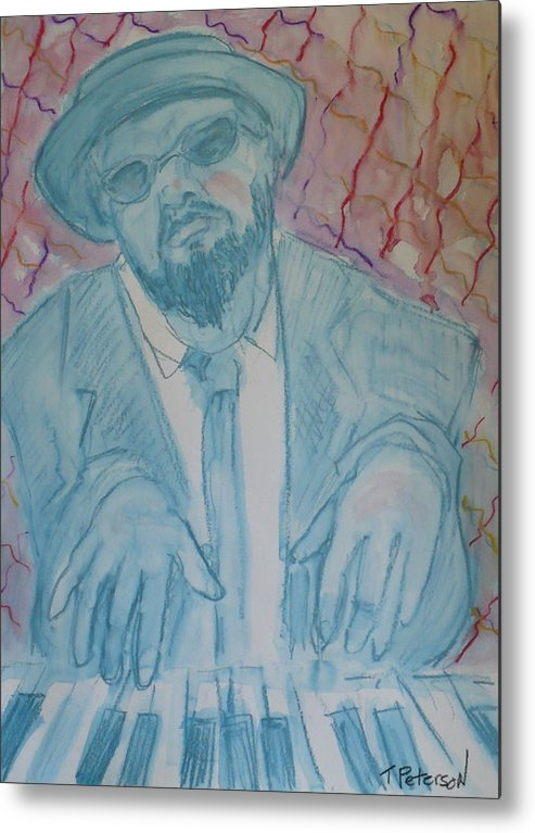 Thelonious Monk Metal Print featuring the painting Round Midnight by Todd Peterson