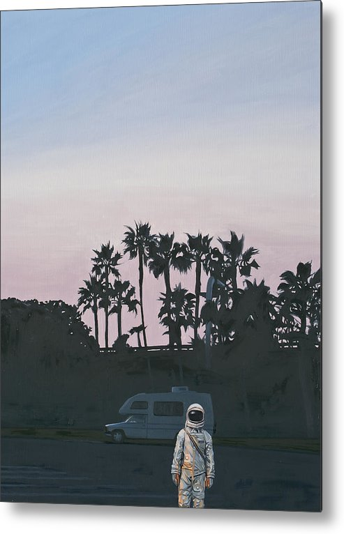 Astronaut Metal Print featuring the painting Rv Dusk by Scott Listfield
