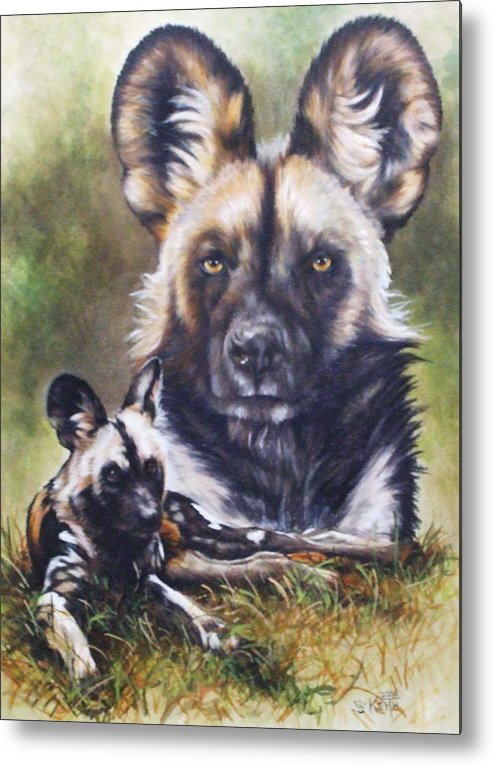 Wild Dogs Metal Print featuring the mixed media Scoundrel by Barbara Keith