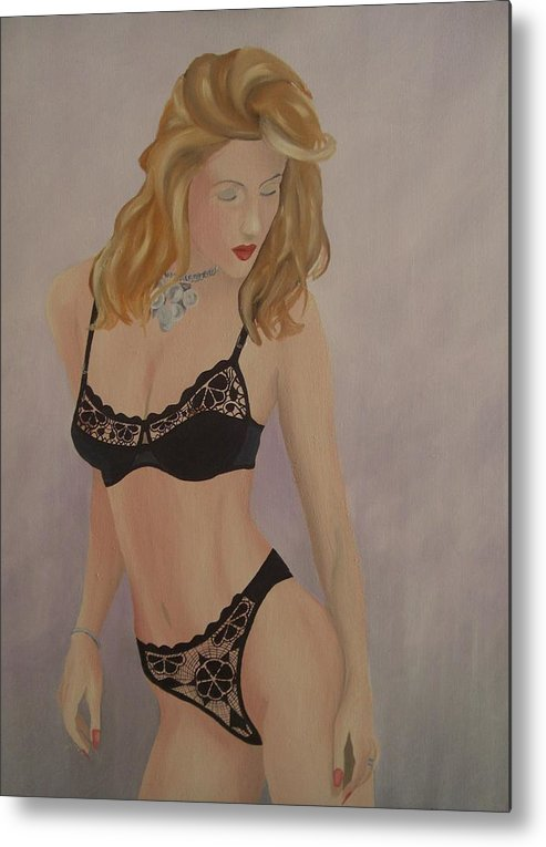 High Heels Metal Print featuring the painting Seduction Iv by Pieter Heelz