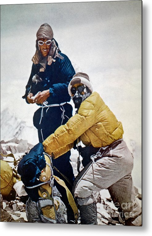 1953 Metal Print featuring the painting Sir Edmund Hillary by Granger