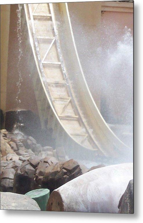 Slide Metal Print featuring the photograph Slide Splash by Pharris Art