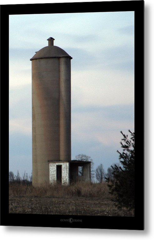 Silo Metal Print featuring the photograph Solo Silo by Tim Nyberg