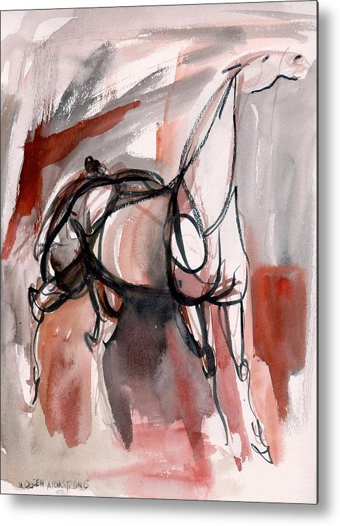 Horse Metal Print featuring the painting Stand Alone by Mary Armstrong