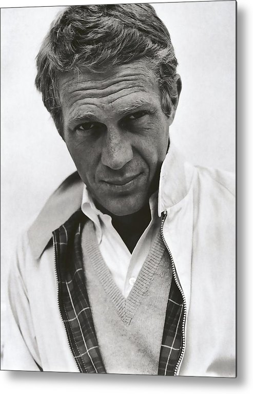 Steve Metal Print featuring the photograph Steve Mcqueen by Daniel Hagerman