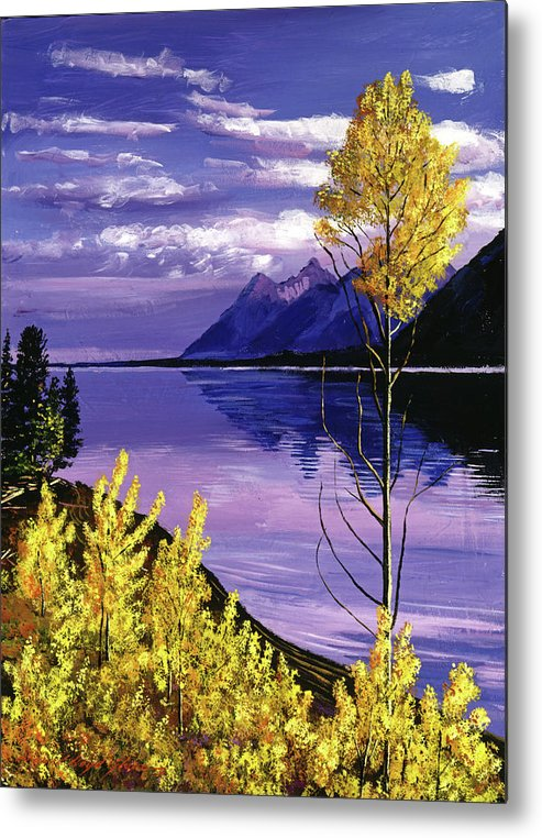 Water Metal Print featuring the painting Still Waters by David Lloyd Glover
