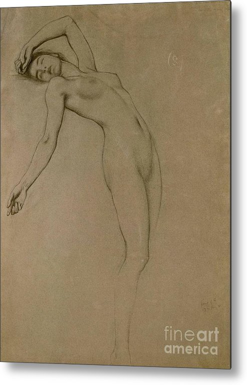 Study Metal Print featuring the drawing Study For Clyties Of The Mist by Herbert James Draper