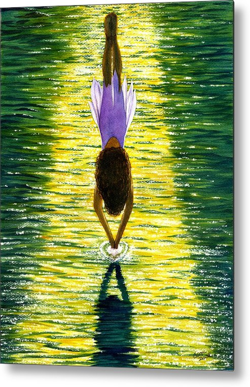 Dive Metal Print featuring the painting Take The Plunge by Catherine G McElroy