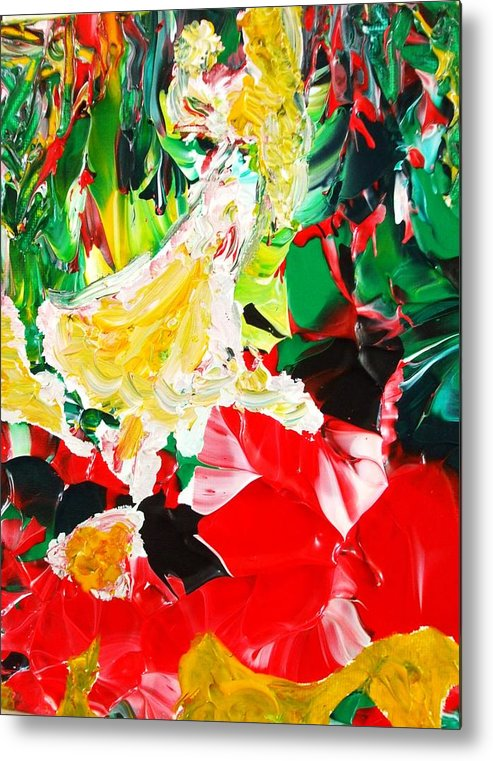 Figurative Surrealist Expressionism Conceptual Abstract Portrait Landscape Dance Love Poetry Nature Metal Print featuring the painting The Dance by Carmen Doreal
