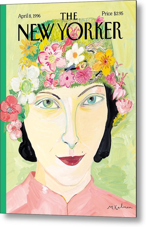 Maira Metal Print featuring the photograph The New Yorker Cover - April 8th, 1996 by Maira Kalman