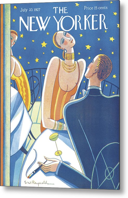 S.w. Metal Print featuring the photograph The New Yorker Cover - July 23rd, 1927 by Stanley W Reynolds