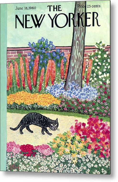 Animals Metal Print featuring the painting New Yorker Cover - June 18, 1960 by William Steig
