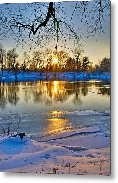 Snow Metal Print featuring the photograph The Sunny Side by Robert Pearson