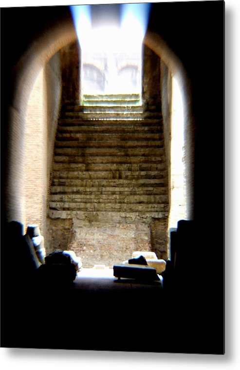 Colliseum Metal Print featuring the photograph The Way by Chuck Shafer