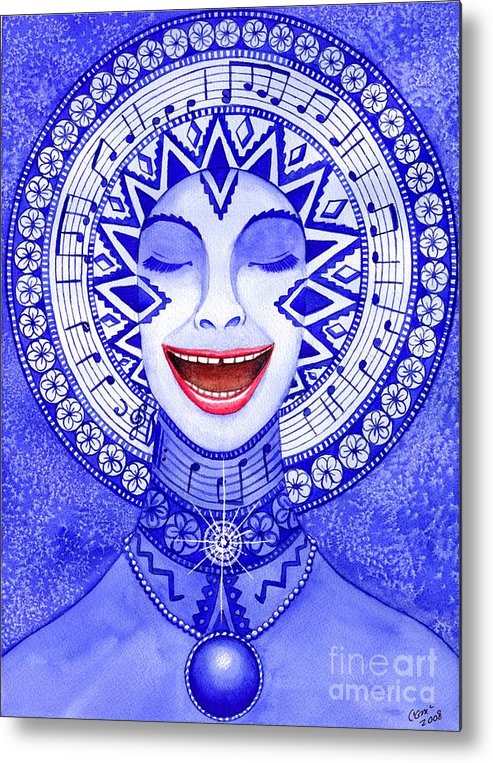 Chakra Metal Print featuring the painting Throat Chakra by Catherine G McElroy