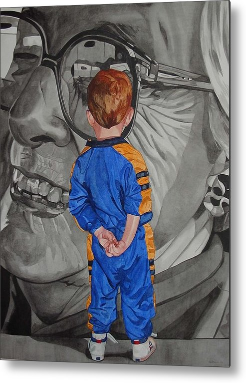 Children Metal Print featuring the painting Timeless Contemplation by Valerie Patterson