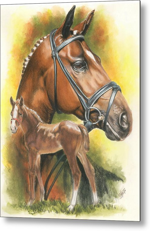 Jumper Hunter Metal Print featuring the mixed media Trakehner by Barbara Keith