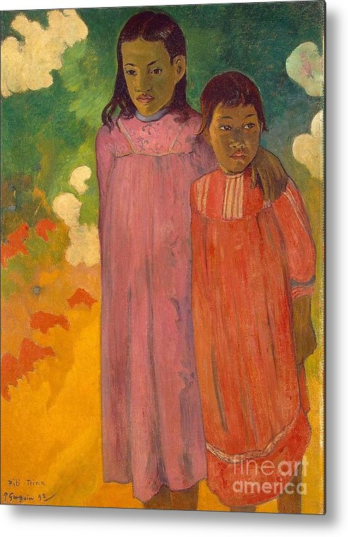 Master Artists Metal Print featuring the painting Two Sisters by Gauguin