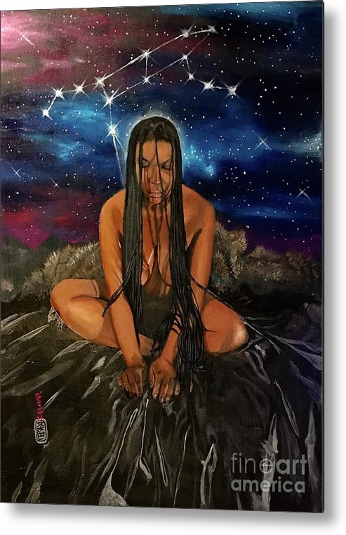 Dreads Metal Print featuring the painting Ursa Major by Baroquen Krafts