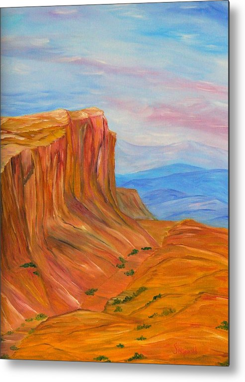 Southwest Metal Print featuring the painting Valley Of Fire by Cary Singewald