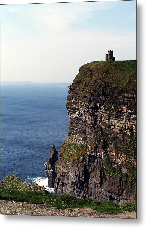 Irish Metal Print featuring the photograph View Of Aran Islands And Cliffs Of Moher County Clare Ireland by Teresa Mucha