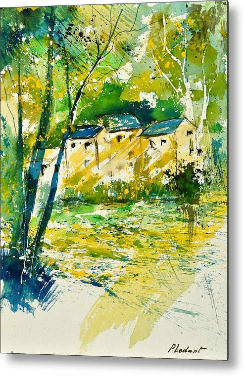 Landscape Metal Print featuring the painting Watercolor 115080 by Pol Ledent
