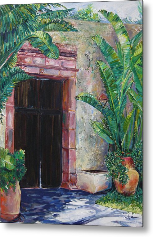 Building Metal Print featuring the painting Way To The Beach by Karen Doyle