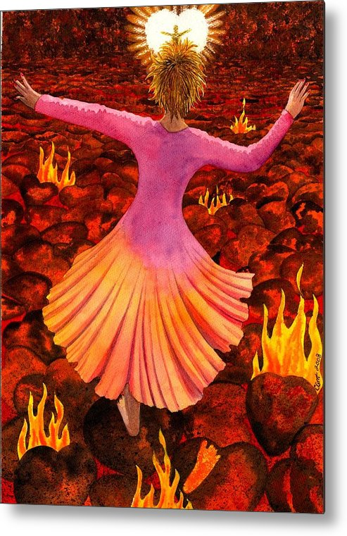 Valentine Metal Print featuring the painting What We Do For Love by Catherine G McElroy