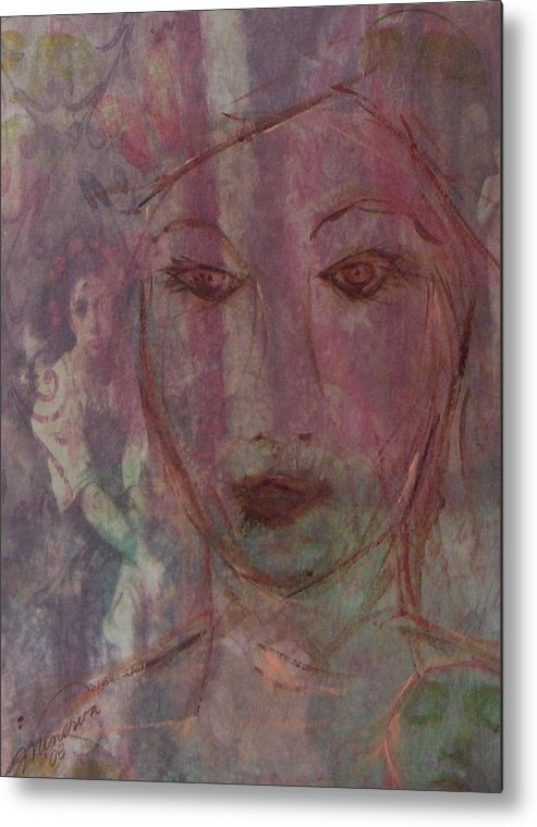 Dream Metal Print featuring the painting Wistful Dreams by Cathy Minerva