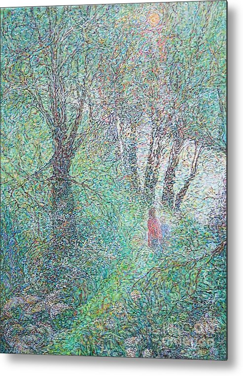 Artist Anna Yurasovsky Metal Print featuring the painting Yare Valley Walk by Anna Yurasovsky