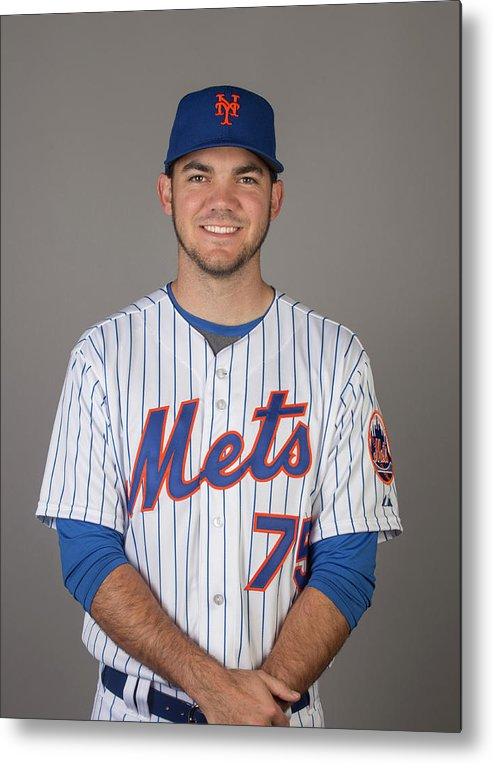 Media Day Metal Print featuring the photograph 2015 New York Mets Photo Day by C.j. Walker