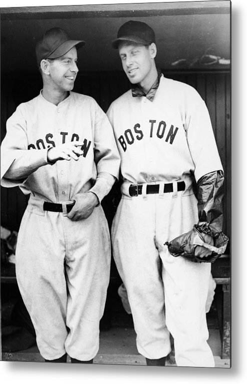 Plan Metal Print featuring the photograph Rick And Wes Ferrell Of The Red Sox by Fpg