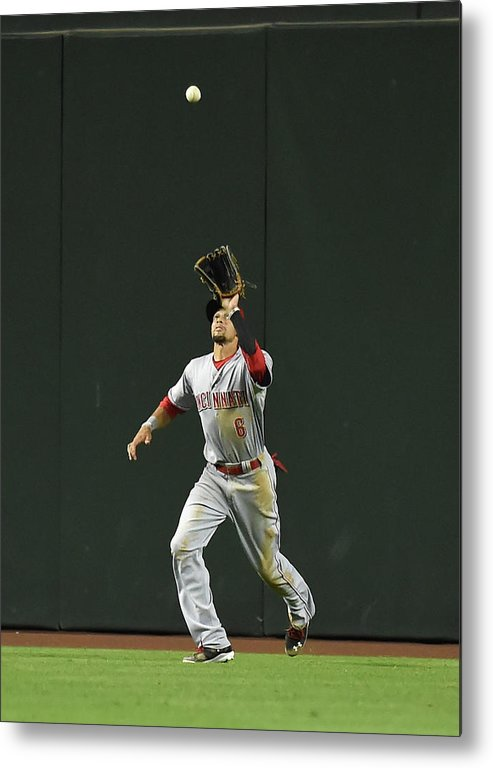 American League Baseball Metal Print featuring the photograph Billy Hamilton by Norm Hall