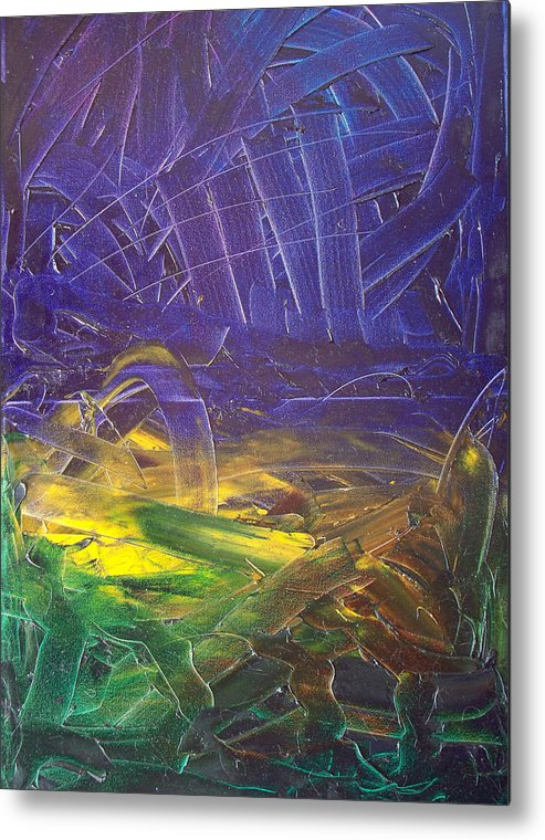 Painting Metal Print featuring the painting Forest. Part2 by Sergey Bezhinets