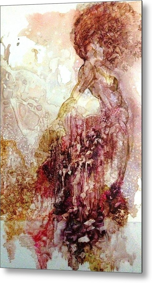 Figure Metal Print featuring the painting Aroura by Michol Childress