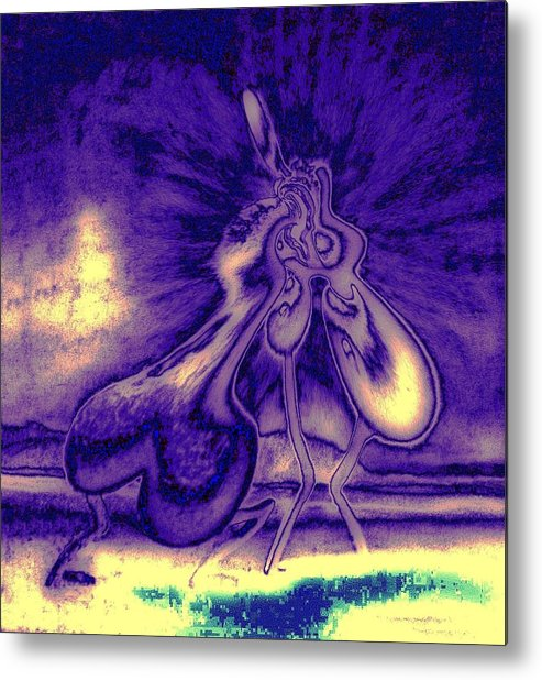 Genio Metal Print featuring the mixed media Passion In The Night by Genio GgXpress