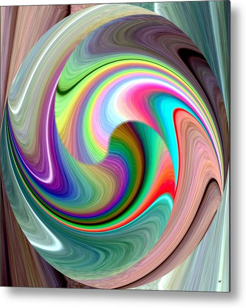 Abstract Fusion 241 Metal Print featuring the digital art Abstract Fusion 241 by Will Borden