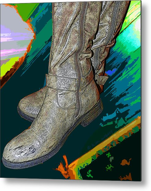Shoes Metal Print featuring the photograph Das Boots by Kim Webert