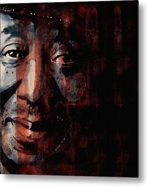 Muddy Waters Metal Print featuring the painting Hoochie Coochie Man by Paul Lovering