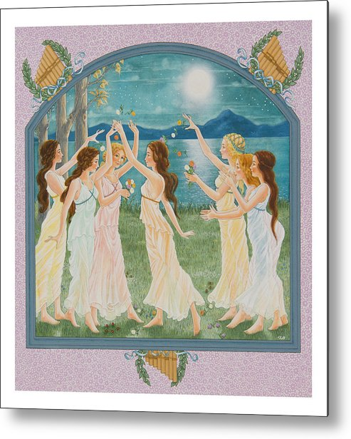 Fairy Tale Metal Print featuring the painting The Twelve Dancing Princesses by Lynn Bywaters
