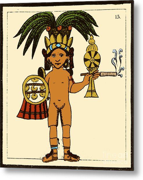 Art Metal Print featuring the photograph Tobacco In Aztec Ritual, Florentine by Science Source