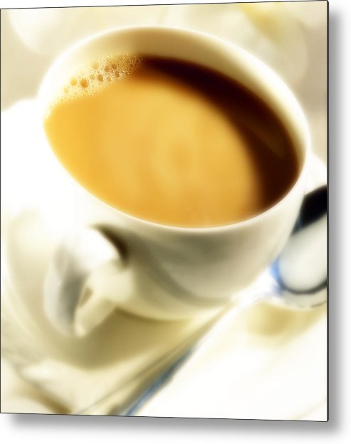 Coffee Metal Print featuring the photograph Cup Of Coffee by Federico Arce