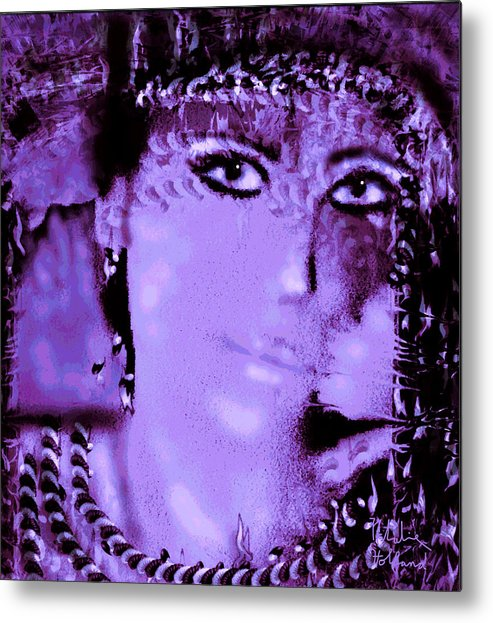 Portrait Metal Print featuring the mixed media Nat by Natalie Holland