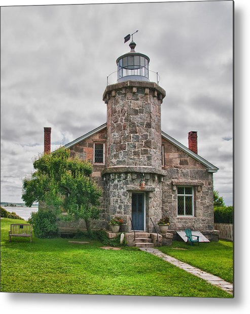 Buildings Metal Print featuring the photograph Stonington Lighthouse Museum by Guy Whiteley