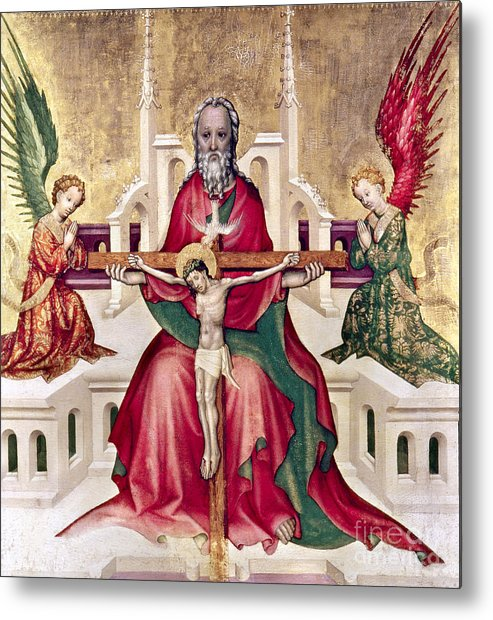 15th Century Metal Print featuring the photograph Trinity And Christ by Granger